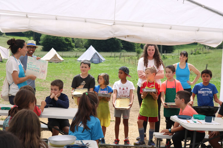 Alimentación en los campamentos NewPa
