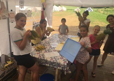 Actividades colaborativas en el campamento