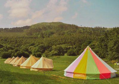 Campamentos en inglés Cantabria, detalle de las tiendas