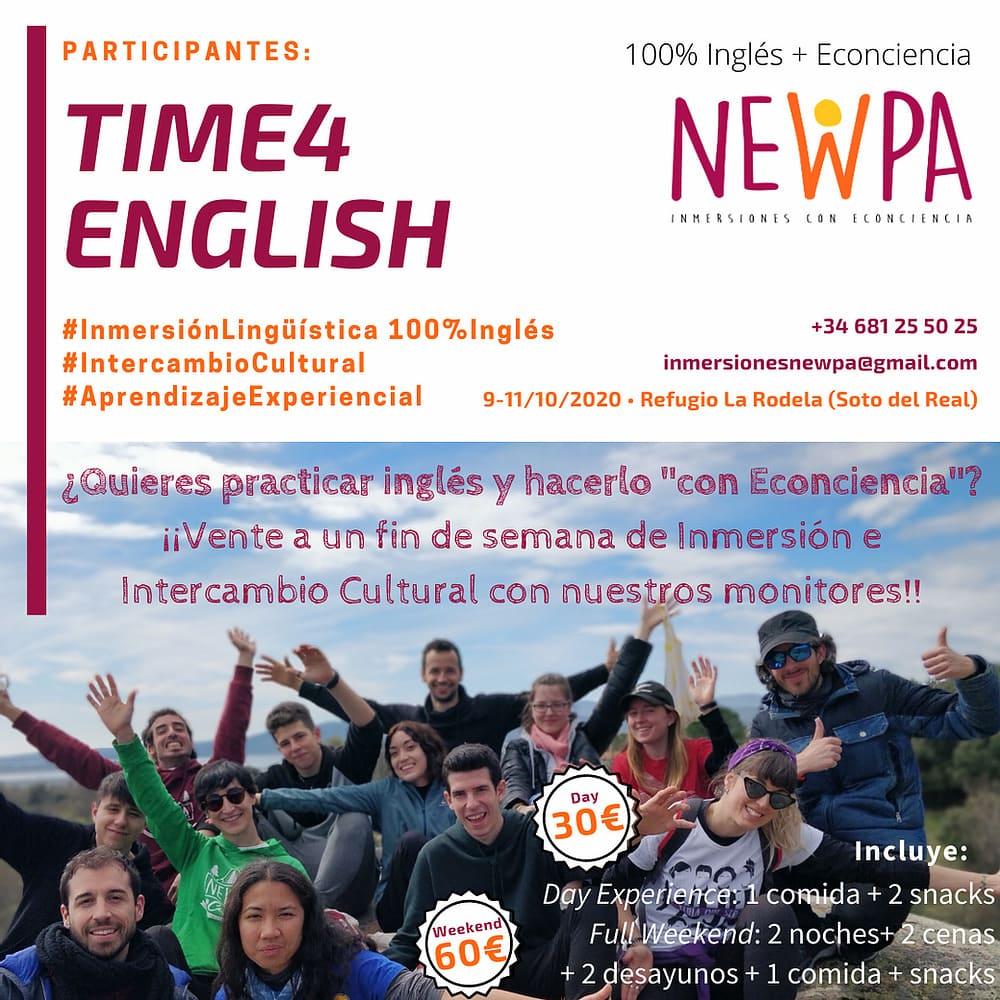 Fin de semana Inmersión en Inglés para adultos